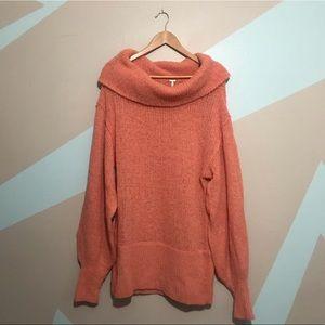 FREE PEOPLE Alpaca Oversized Turtleneck Sweater